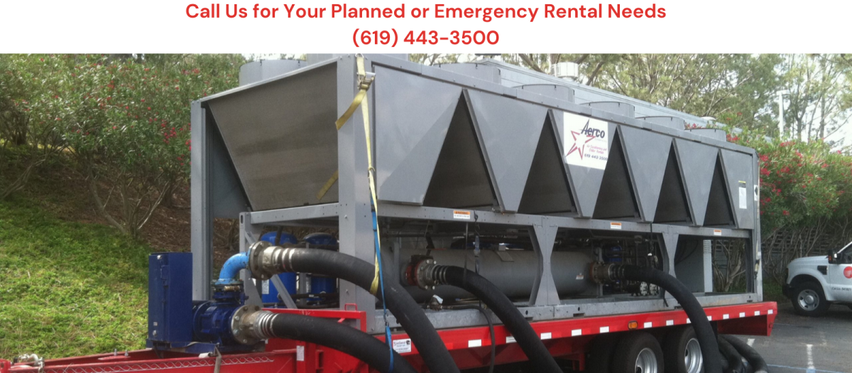 Portable HVAC rental, chiller & cooling tower rental