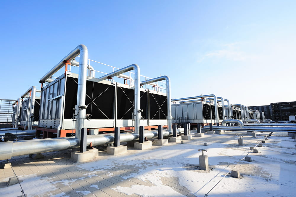 What are air-cooled chillers used for